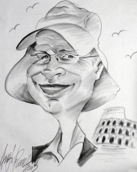Caricature of Ivor