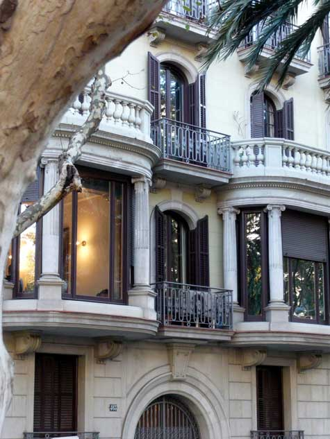 A typical balcony in Barcelona